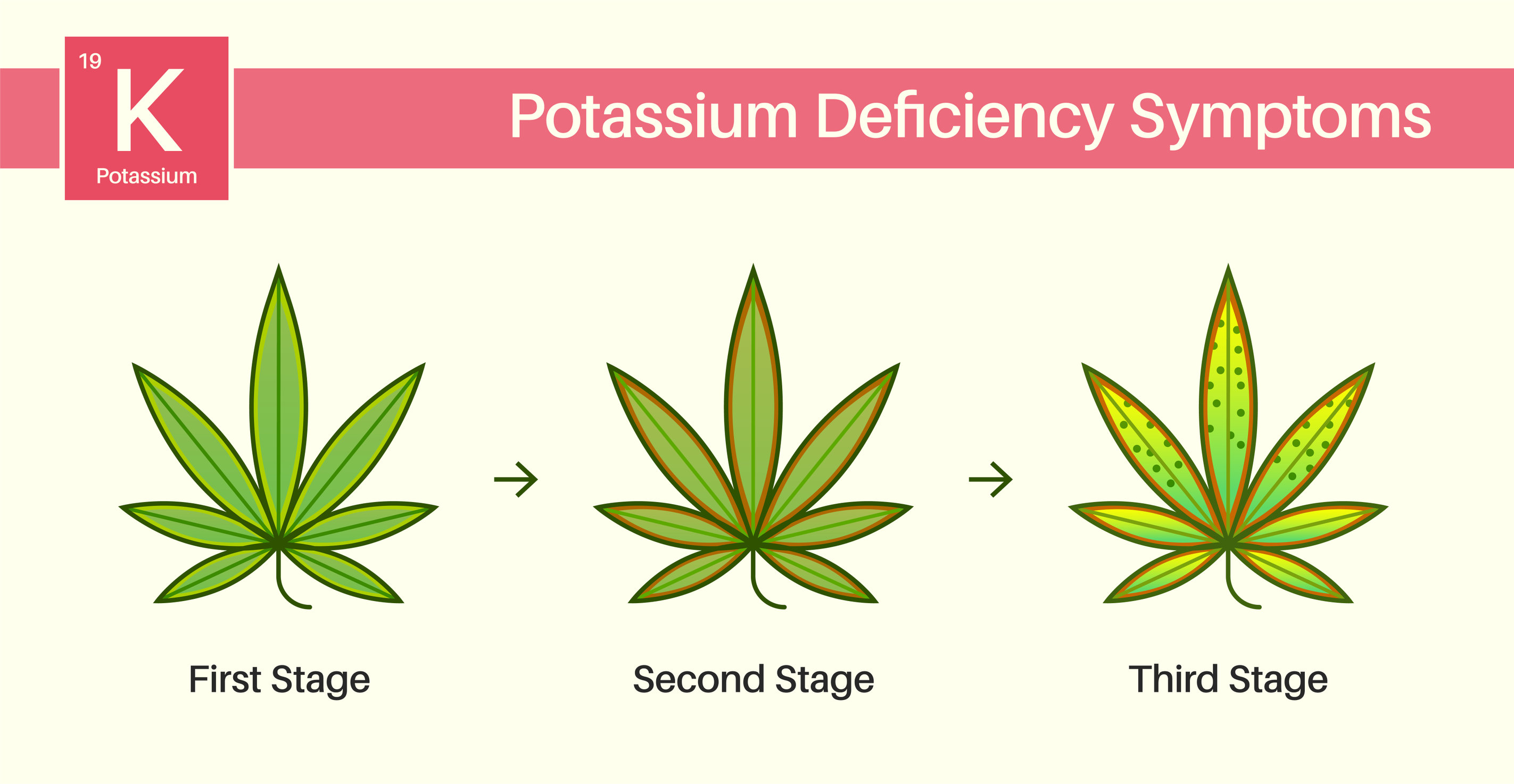Resolving a potassium deficiency in weed plants